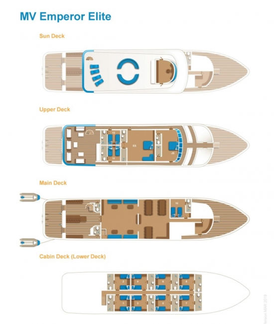 Emperor Elite Red Sea Liveaboard Deck Plan