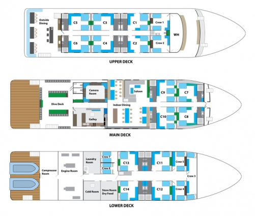 thumb MV White Manta Boat Layout
