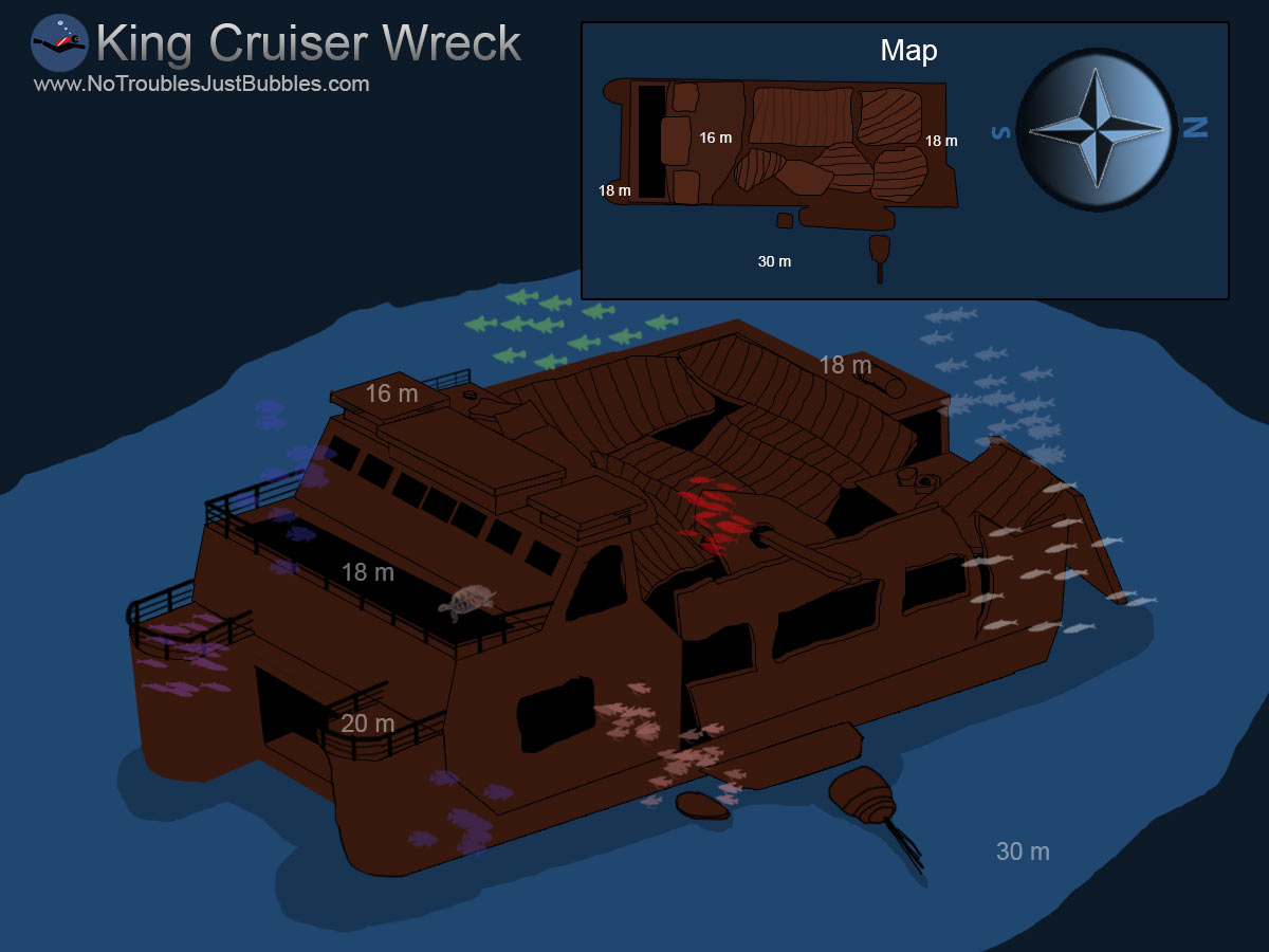 King Cruiser wreck dive map