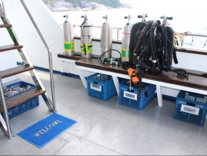 dive deck and equipment no troubles just bubbles