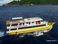 A typical Phuket liveaboard diving boat