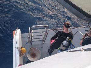 Diving from the main boat