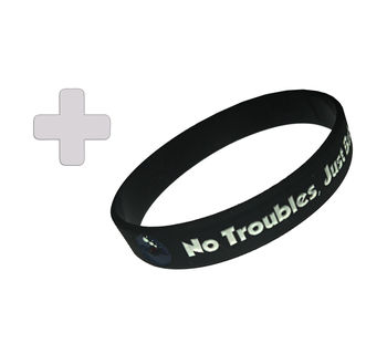 Free dive no troubles just bubbles wristband